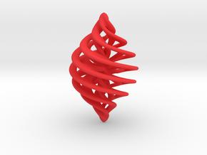 Entanglement Bauble in Red Processed Versatile Plastic