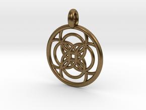 Amalthea pendant in Natural Bronze