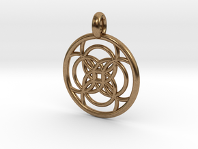Amalthea pendant in Natural Brass