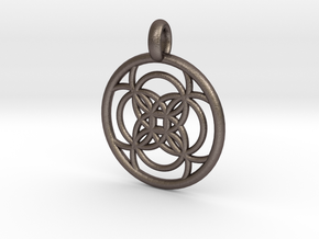 Amalthea pendant in Polished Bronzed Silver Steel