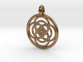 Iocaste pendant in Natural Brass