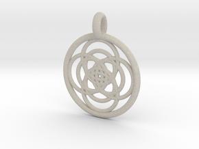 Iocaste pendant in Natural Sandstone