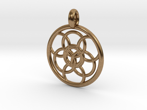 Lysithea pendant in Natural Brass
