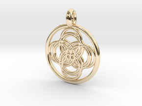 Thebe pendant in 14K Yellow Gold