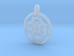 Thebe pendant in Smooth Fine Detail Plastic