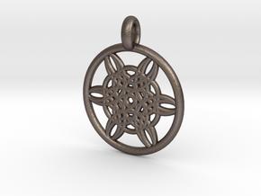 Helike pendant in Polished Bronzed Silver Steel
