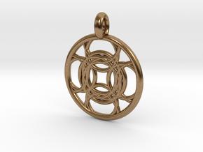 Kallichore pendant in Natural Brass