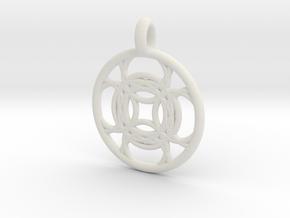 Kallichore pendant in White Natural Versatile Plastic