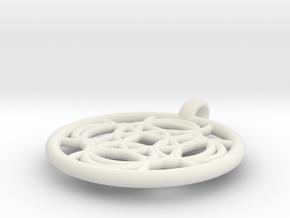 Thelxinoe pendant in White Natural Versatile Plastic