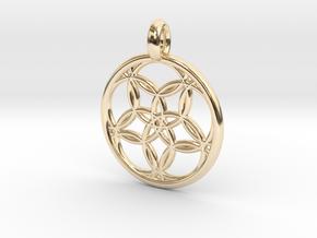 Hegemone pendant in 14K Yellow Gold