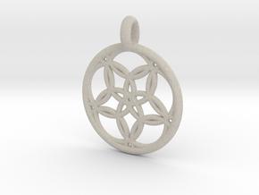 Hegemone pendant in Natural Sandstone