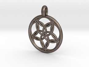 Hegemone pendant in Polished Bronzed Silver Steel