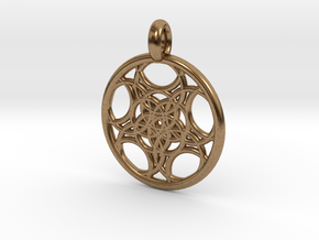 Euanthe pendant in Natural Brass