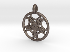Euanthe pendant in Polished Bronzed Silver Steel