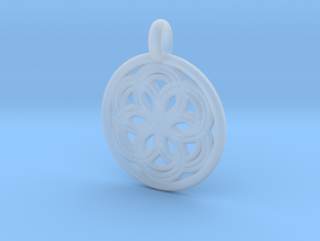 Thyone pendant in Smooth Fine Detail Plastic