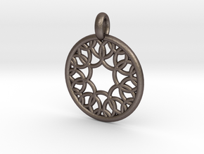 Eurydome pendant in Polished Bronzed Silver Steel