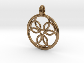 Pasithee pendant in Natural Brass