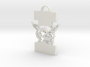 """St. Ignatius Wildcat and """"I"""" Hanging Ornament in White Natural Versatile Plastic"""