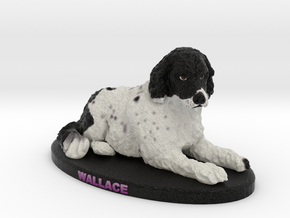 Custom Dog Figurine - Wallace in Full Color Sandstone