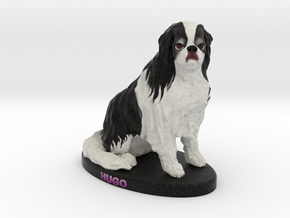 Custom Dog Figurine - Hugo in Full Color Sandstone