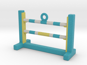 Agility Bar Jump Ornament (Blue Version) in Full Color Sandstone