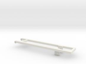 Single 18' Bed frame in White Natural Versatile Plastic
