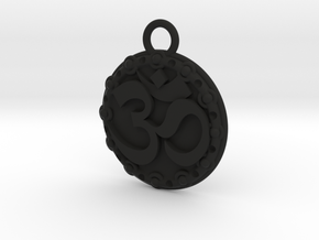 Om Pendant in Black Natural Versatile Plastic