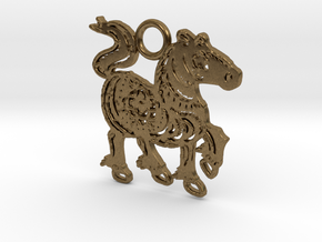 Year of the Horse: Lucky charm in Natural Bronze
