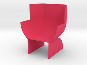 Doll's chair in Pink Processed Versatile Plastic