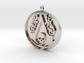 Assassin's Creed - Black Flag Medal Pendant in Platinum