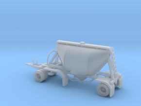 N scale 1/160 Dry Bulk Pup Trailer 07 in Smooth Fine Detail Plastic