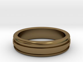 Man's Wedding Band M-004 in Polished Bronze