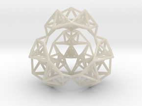 Inversion of a Sierpinski Tetrahedron in White Acrylic