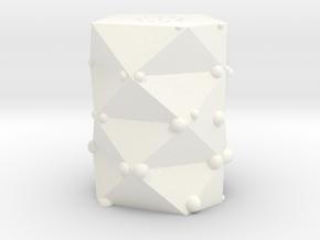 Pepper Shaker 'Gamma' in White Processed Versatile Plastic