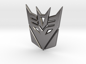 Decepticon Logo in Polished Nickel Steel