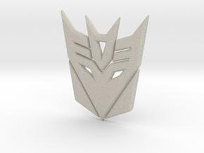 Decepticon Logo in Natural Sandstone