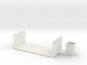 """Bookend and Pencil/Pen Cup: """"To Read Well is to Wr in White Natural Versatile Plastic"""