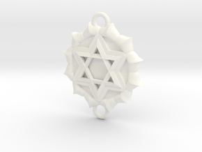 Heart Chakra Link in White Processed Versatile Plastic
