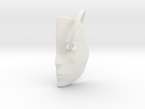 Mask1 in White Natural Versatile Plastic