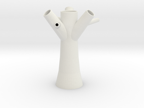 Tree Vase 1 in White Natural Versatile Plastic