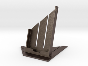Samsung Galaxy S4 Table Support in Polished Bronzed Silver Steel