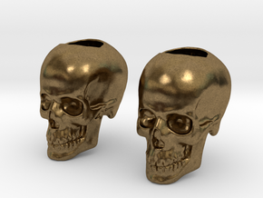 Skull Bead - Doubled in Natural Bronze