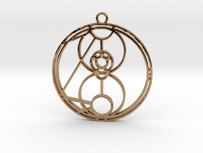Mai-ling - Necklace in Polished Brass