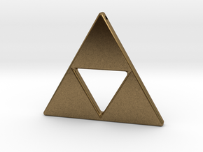 Tri-Force Necklace Pendant in Natural Bronze
