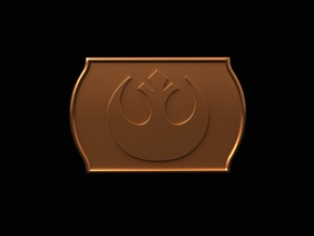 Starwars Buckle 40mm in Polished Bronze