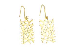 LINES LITE EARRINGS in 18K Gold Plated
