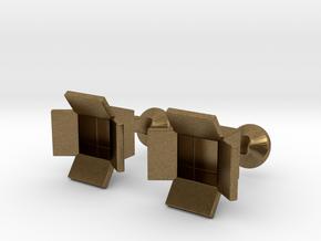 Box Cufflinks in Natural Bronze
