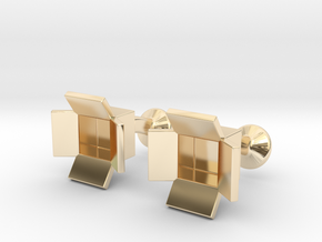 Box Cufflinks in 14K Yellow Gold