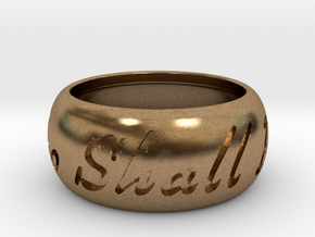 This Too Shall Pass ring size 8  in Natural Brass