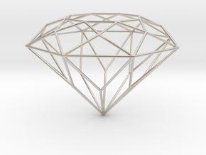 Diamond Brilliant Object in Platinum